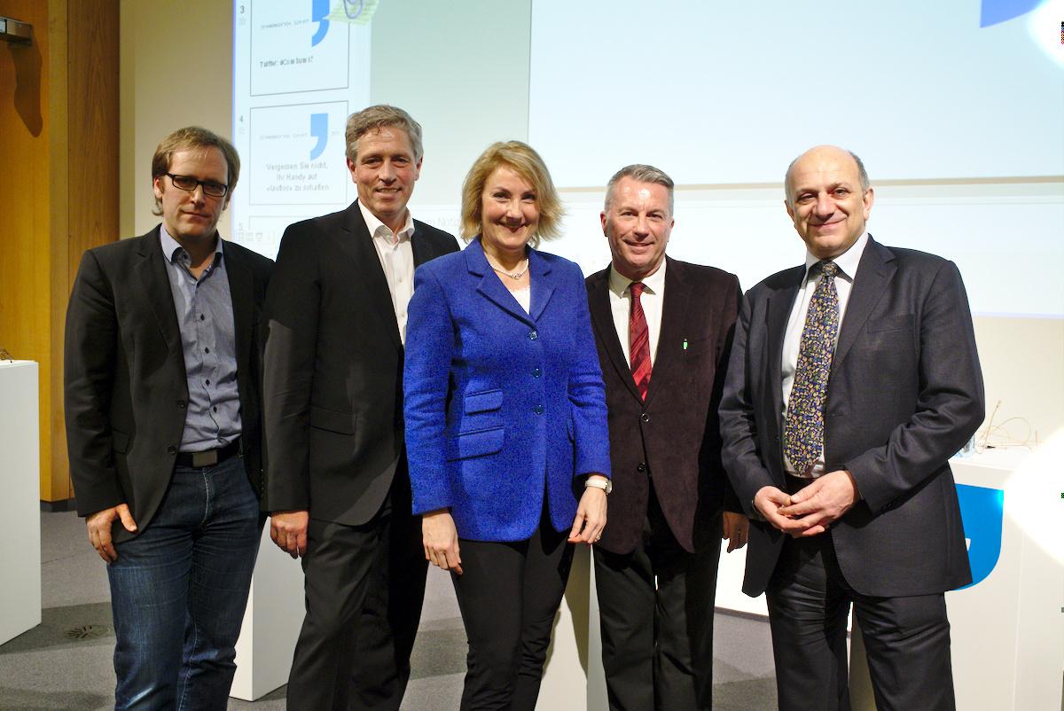 Markus Wiegand, Ralph Grosse-Bley, Gerlinde Manz-Christ, Reto Lipp und Haig Simonian (v.l.). Bild: zvg